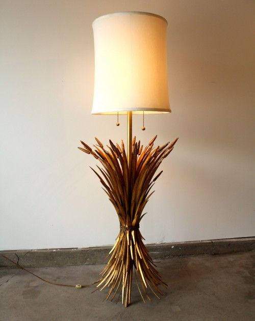 Gilt Sheaf Of Wheat Floor Lamp Http Manlyvintage Com Www Facebook Com Manlyvintage Midcentury Modern Vintage 1950s 1960s Chicago Floor Lamp Lamp Gilt