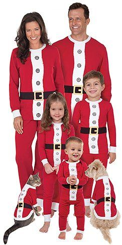 14bf4e7fe4 Matching Family Christmas Pajamas for holiday photos and fun - Santa Claus