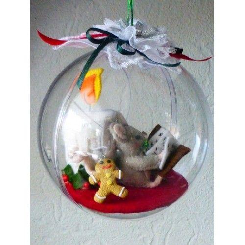 Christmas ball, Christmas mousse, felt package