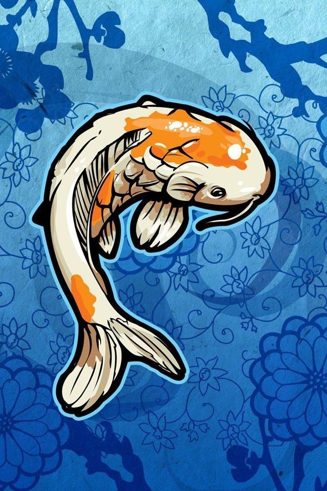 Cool Vector Fish Iphone 4 Wallpapers Fondo De Pantalla