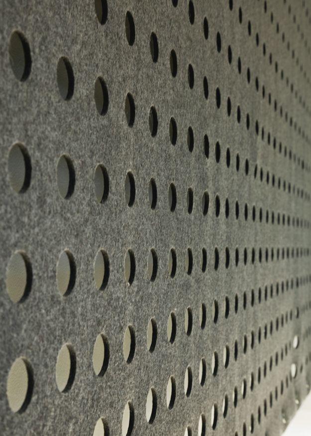 grijs vilt - werkt akoestisch uitstekend CNC cut wool panels u2013 FilzFelt : wall covering, felt ...
