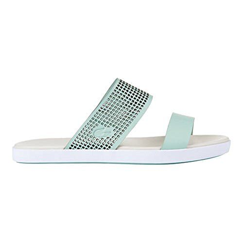 51795cb3a7066c Lacoste Womens Natoy Slide Flat Sandal Light Green 5 M US    Want to know  more