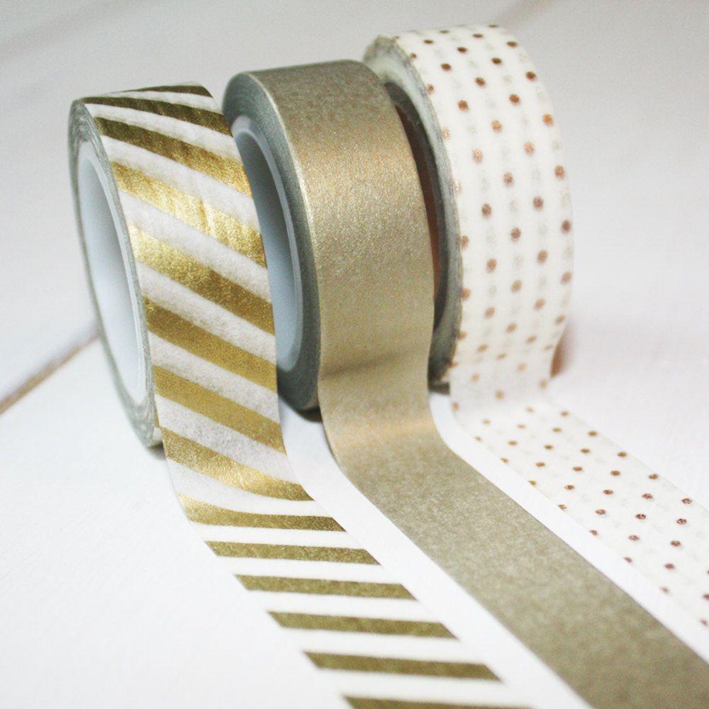 Gold washi tape um einladungen dekoration etc zur for Dekoration zur goldenen hochzeit