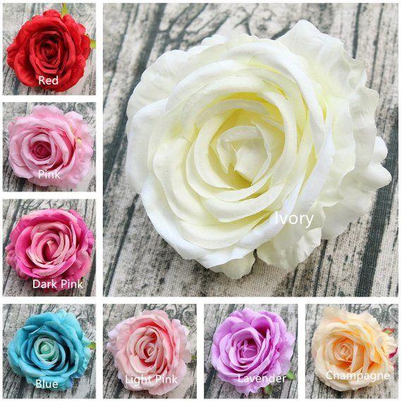 10 Red Rose Heads Wholesale Silk Flower Heads Craft Diy 12 Cm Large