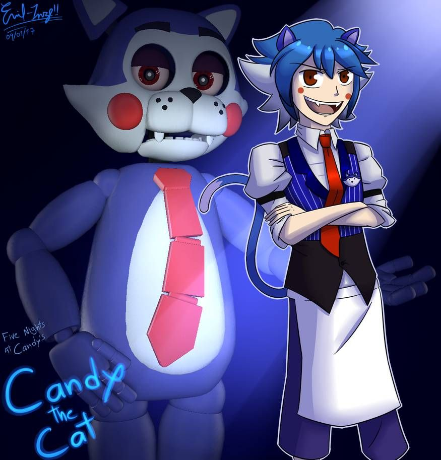 FNaC: Candy The Cat (Remastered) By Emil-Inze On