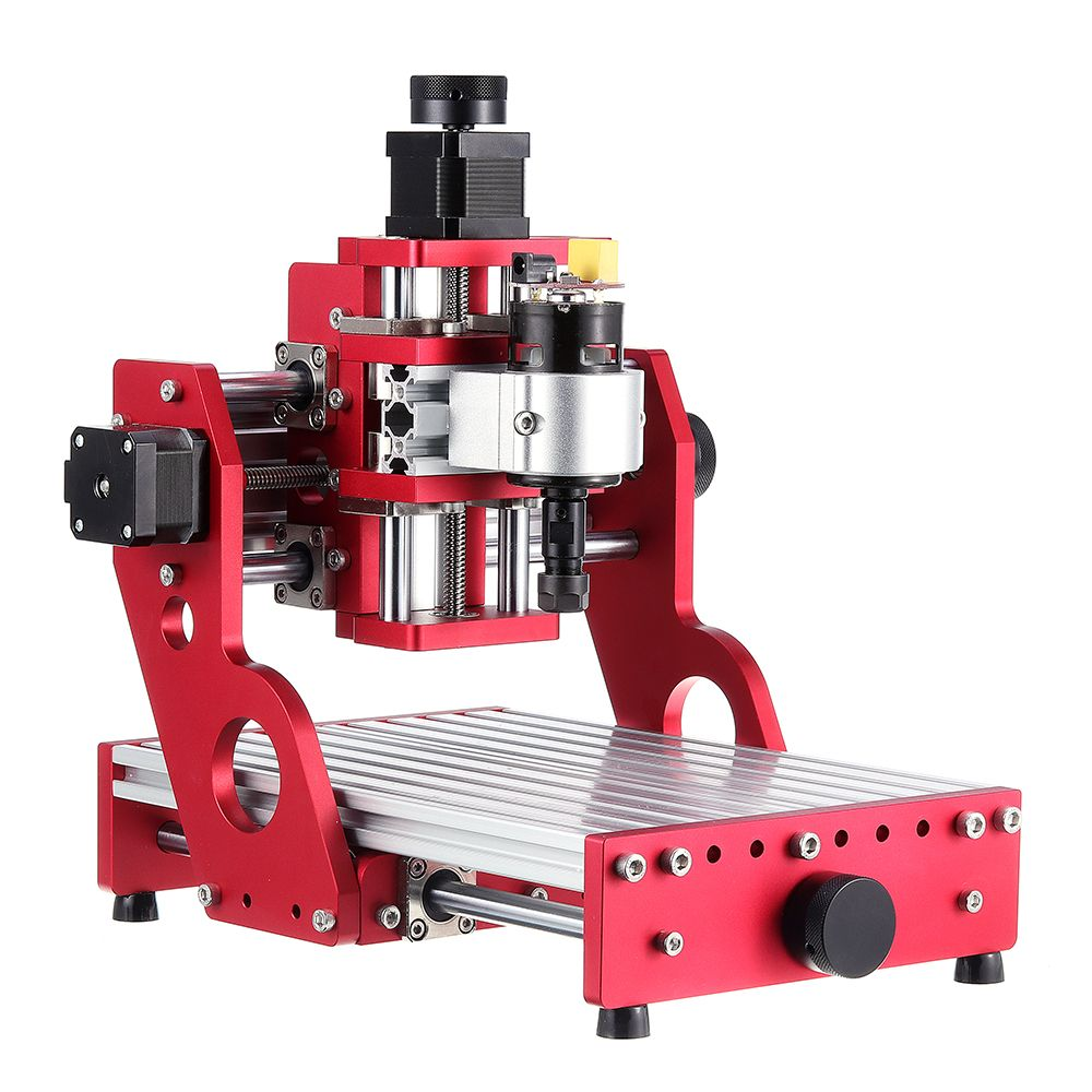 Red 1419 3 Axis Mini DIY CNC Router Standard Spindle Motor