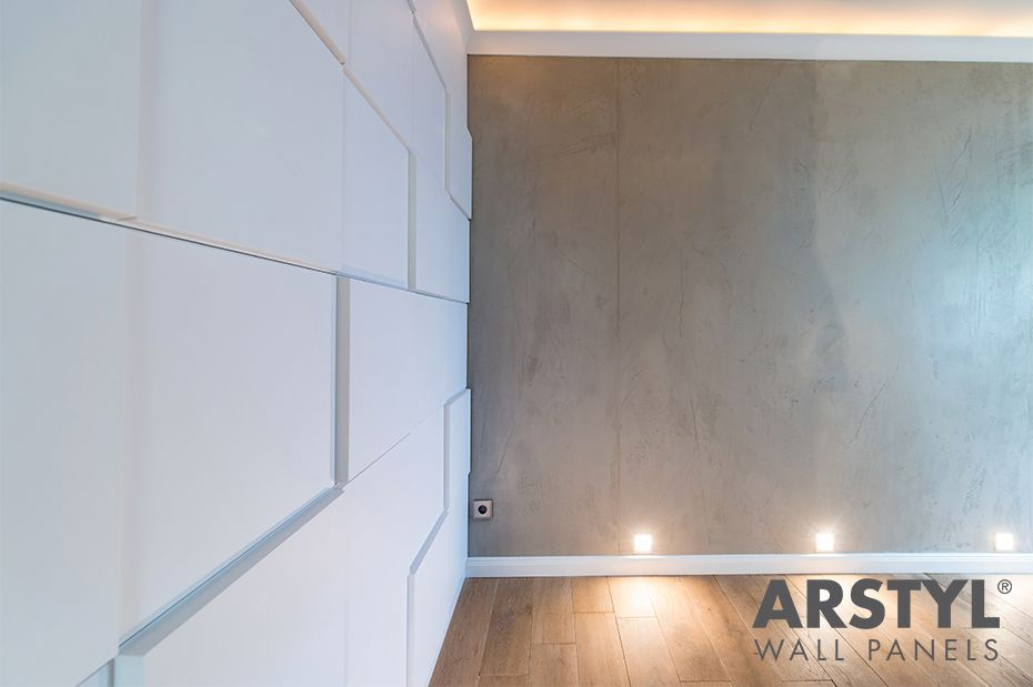 Corridor realised with our arstyl® wall panels domino by dörthe