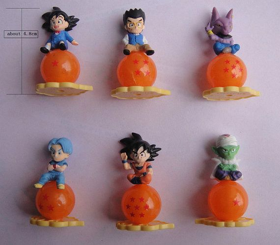 5 pc Dragon Ball Z Theme Cake or Cupcake by TribalTurquoise dragon