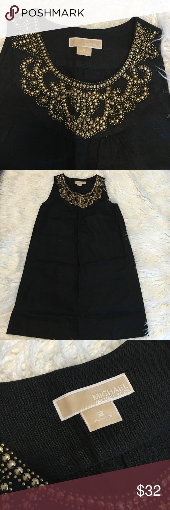 Michael kors linen dress Worn once. Price is firm. Michael Kors Dresses Mini