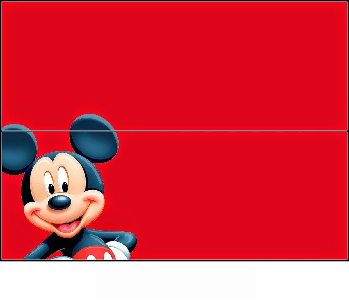 Mickey: Etiquetas para Bolsas de Golosinas para Imprimir Gratis ...