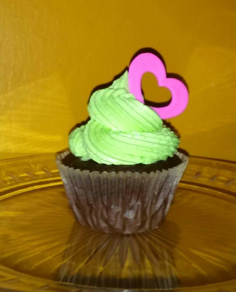 Cupcke de chocolate y crema de menta