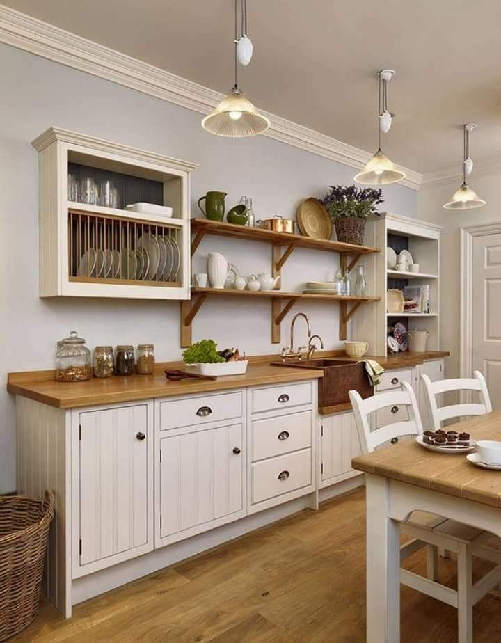 Fresh Also like the counter floor and the way the open shelving was done Top Design - Minimalist white kitchen shelves Photos