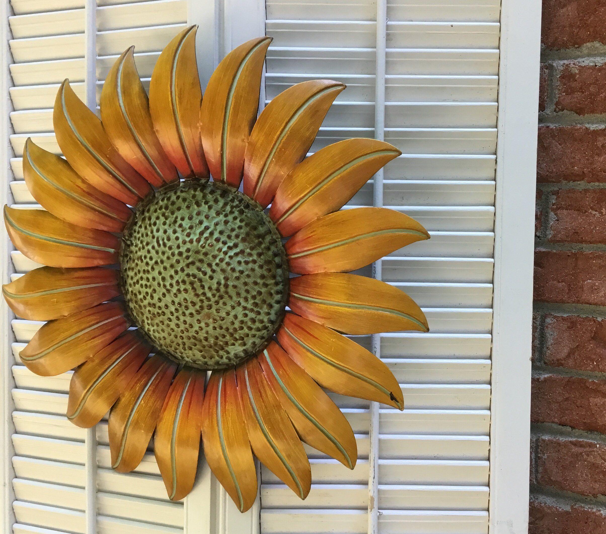 Fall Home Decor Garden Decor Autumn Gift Sunflower Decor Metal Sunflower Porch Decor Farmhou Sunflower Wall Decor Metal Wall Flowers Sunflower Decor