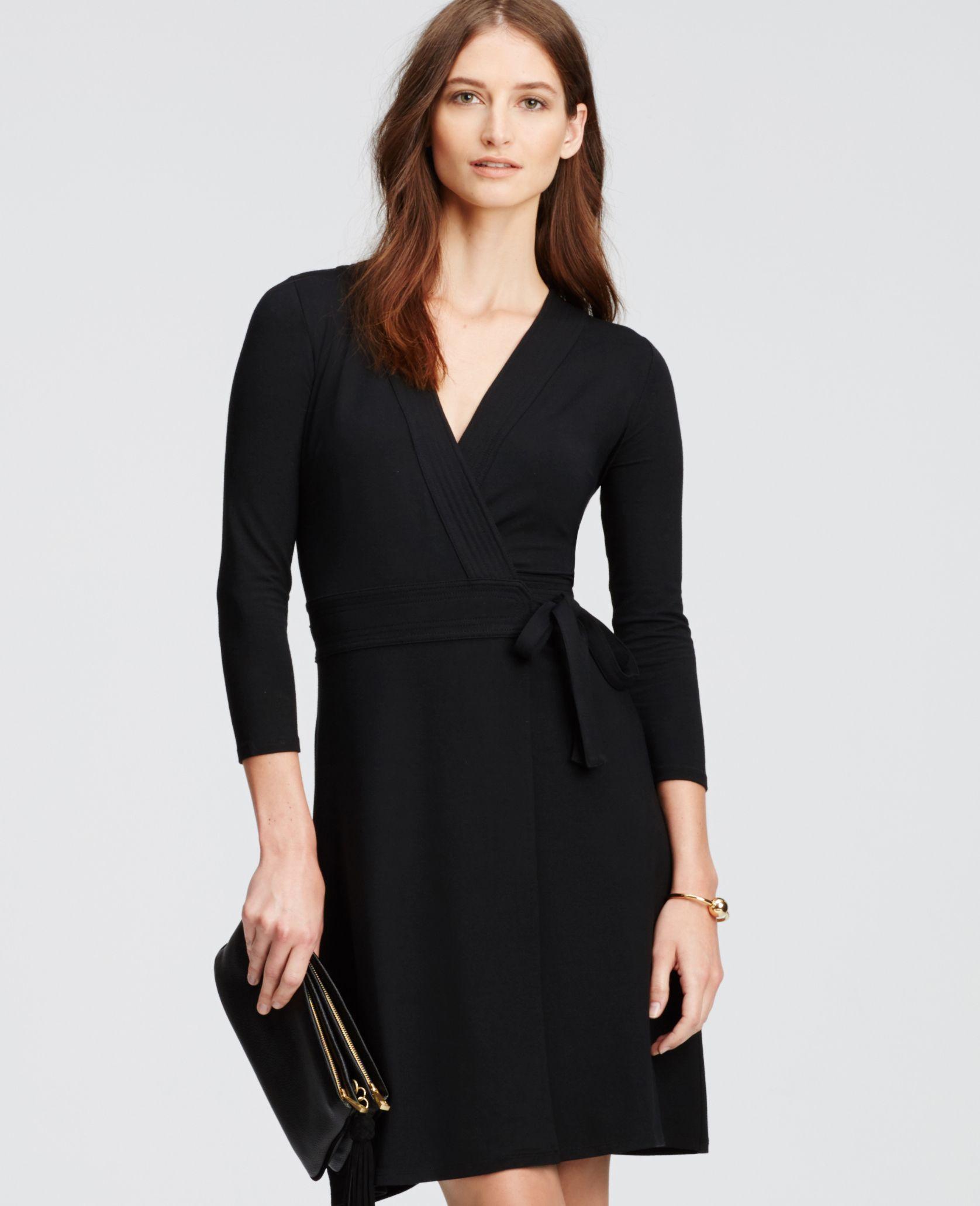 3 4 Sleeve Wrap Dress Ann Taylor Wrap Dress Dresses Black Wrap Dress [ 2061 x 1676 Pixel ]