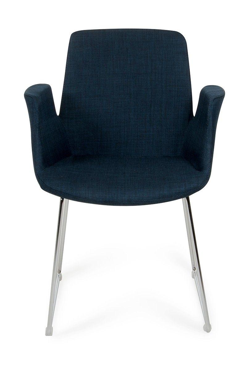 Modrest Altair Mid-Century Blue Fabric Dining Chair | Fabric ...