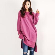 FASHION DIVA - Slit-Side Long Pullover