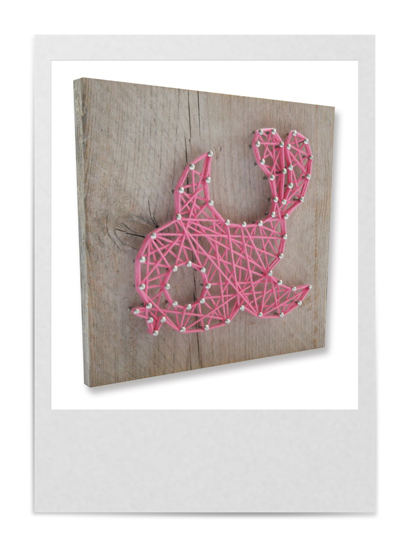 DIY string-art pattern gift box BIRD available at spijkerpatroon.nl ...