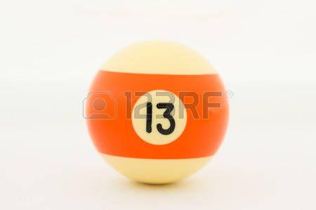 Bola de billar amarilla 13.