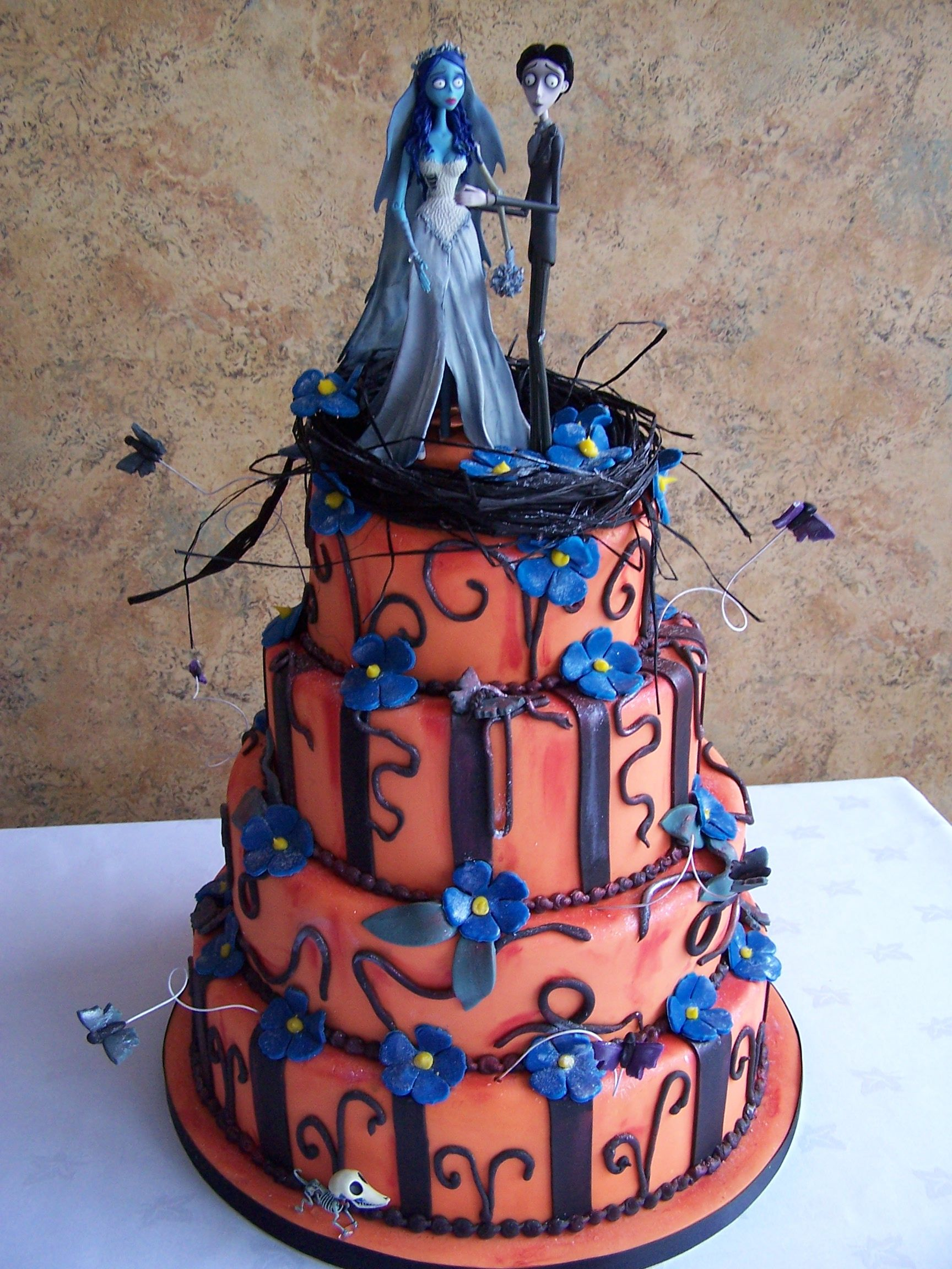Cakes images wedding cake hd wallpaper and background photos - Wedding Or Halloween Cake Idea