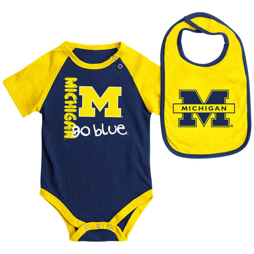 University Of Michigan Baby Clothes Babyfanscom Amaize N Blue