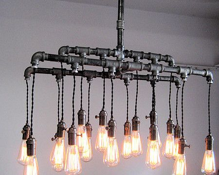 Live Wire industrial pipe pendant