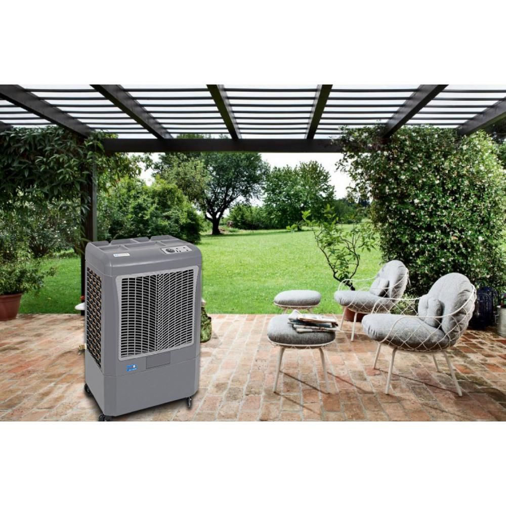 Hessaire 2,200 CFM 2-Speed Portable Evaporative Cooler for ...