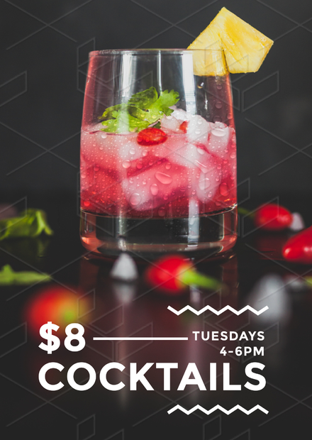 3c3b013bf77 Cocktail Drinks Template - Easily editable posters, flyers and social media  images about drinks for hospitality. Red Cocktail Hour Poster/Flyer/Template  ...