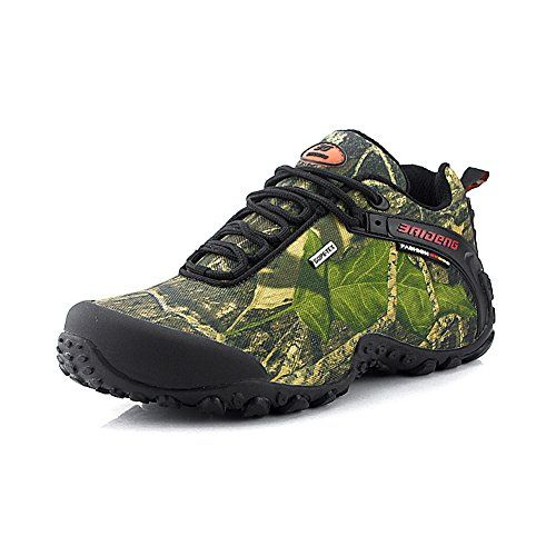 f75557e90f681 GOMNEAR Mens Waterproof Canvas Hiking Shoes Antiskid Wear Resistant ...