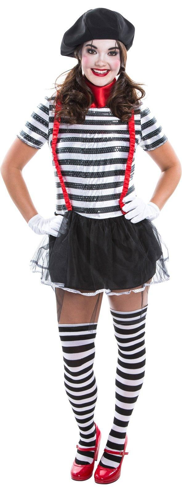 Womens Mime Costume from Circus costumes