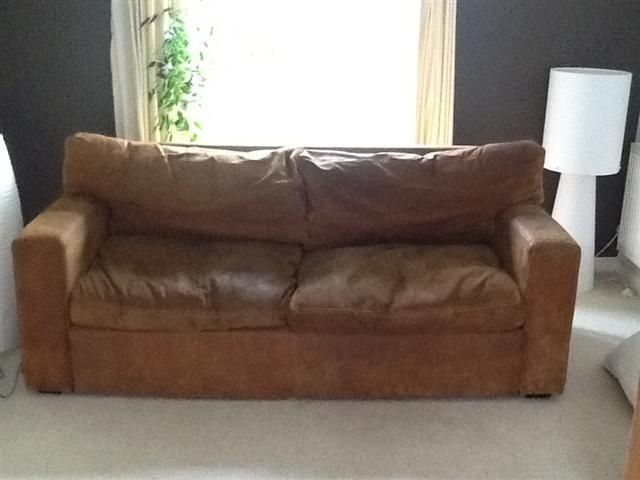 Image For Leather Sofa Second Hand Used Leather Sofa Mk Outlet Home