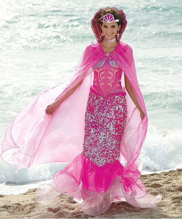 Transform into a pink mermaid with this spectacular womens costume. A Wishcraft costume by Chasing Fireflies.