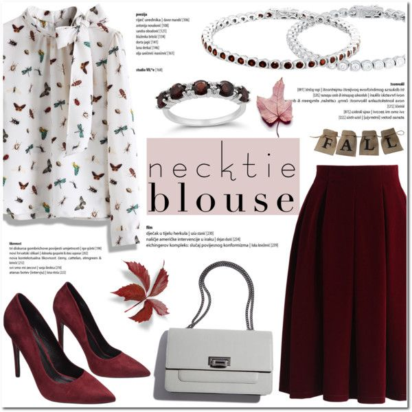 Fall Trend: Necktie Blouse by blossom-jewels on Polyvore featuring Chicwish, Wet Seal, contestentry, necktie and Blossomjewels