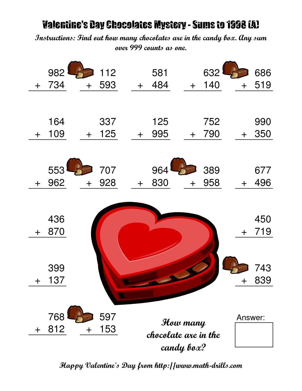 300 Free Valentine Math Worksheets For Kids Valentine Math Worksheet Math Valentines Kids Math Worksheets [ 1584 x 1224 Pixel ]