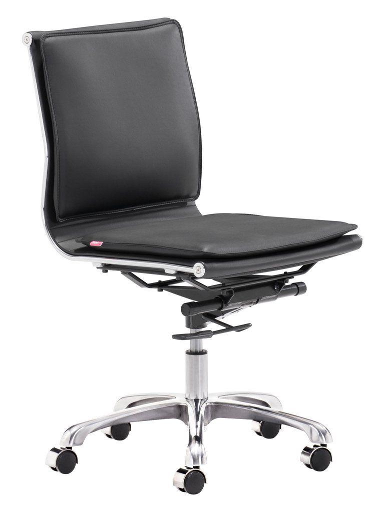 Armless office chair black furniture homedecor