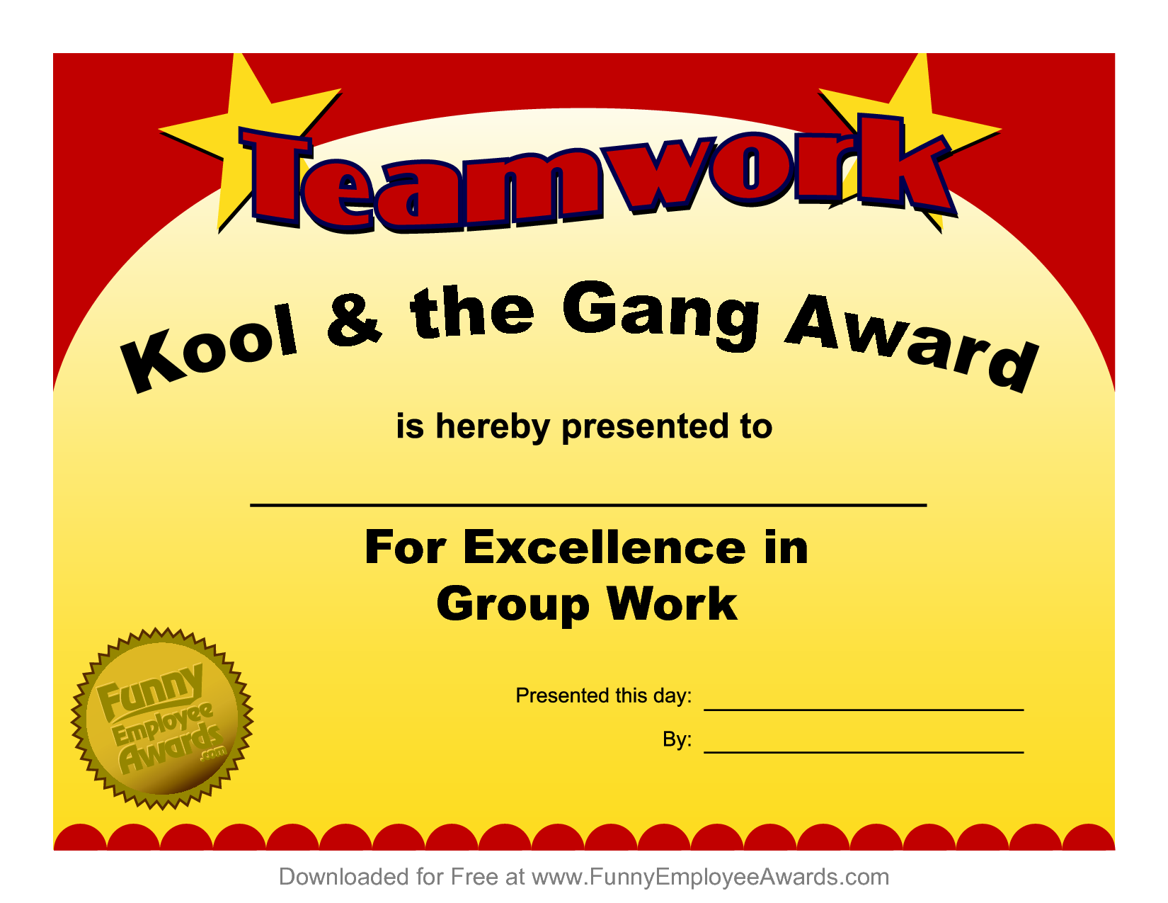 Fun Award Templatefree Employee Award Certificate Templates Pdf ...