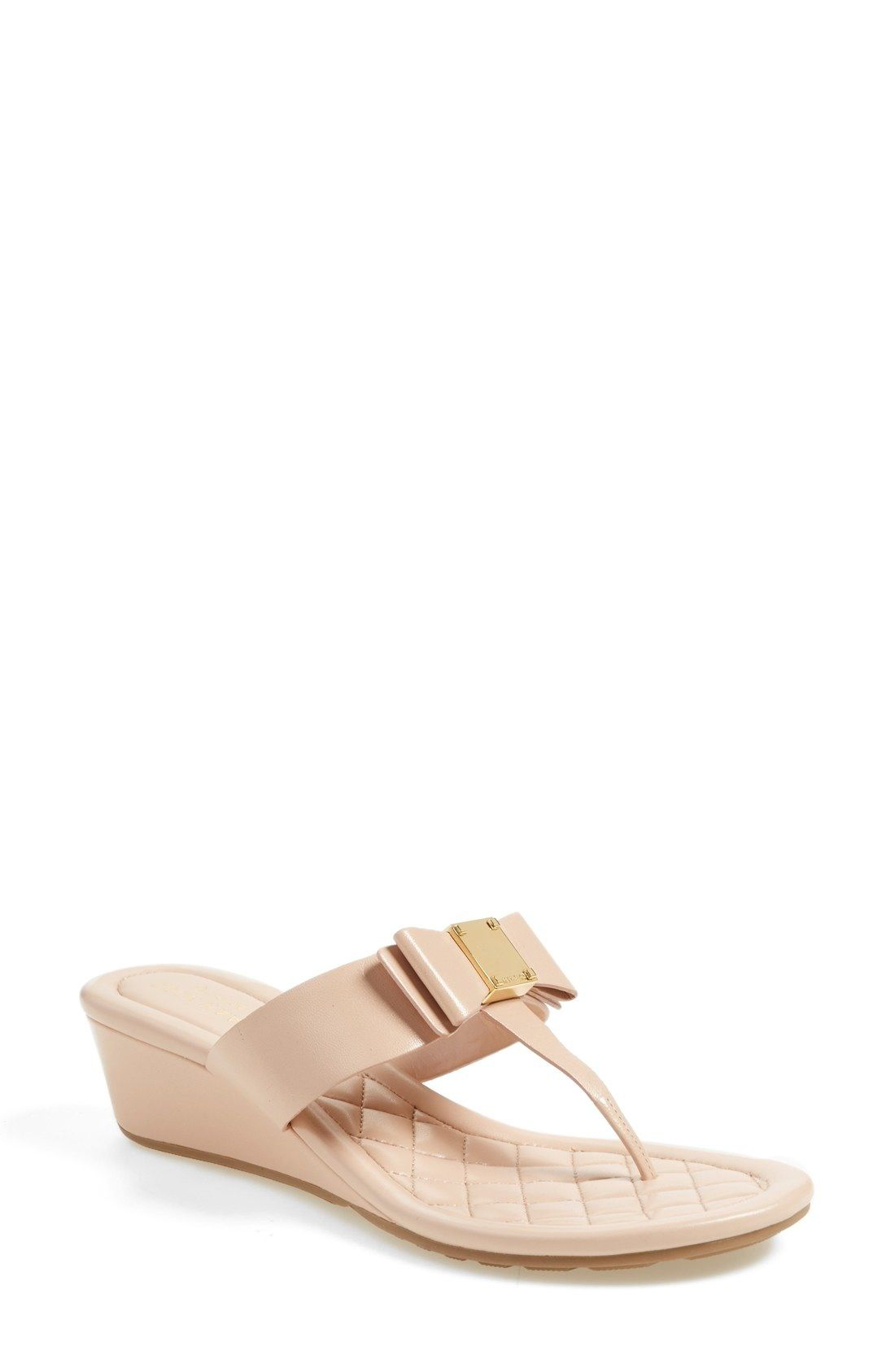 Cole Haan 'Tali Bow' Wedge Sandal