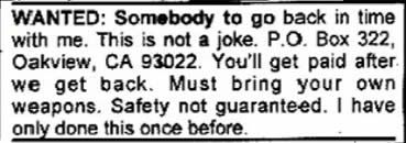15 Wackiest Classified Ads | Morning Funnies | Funny jobs, Funny ads