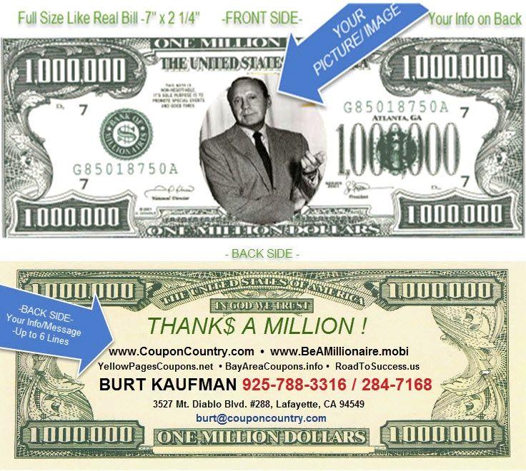 Million Dollar Business Cards | Arts - Arts