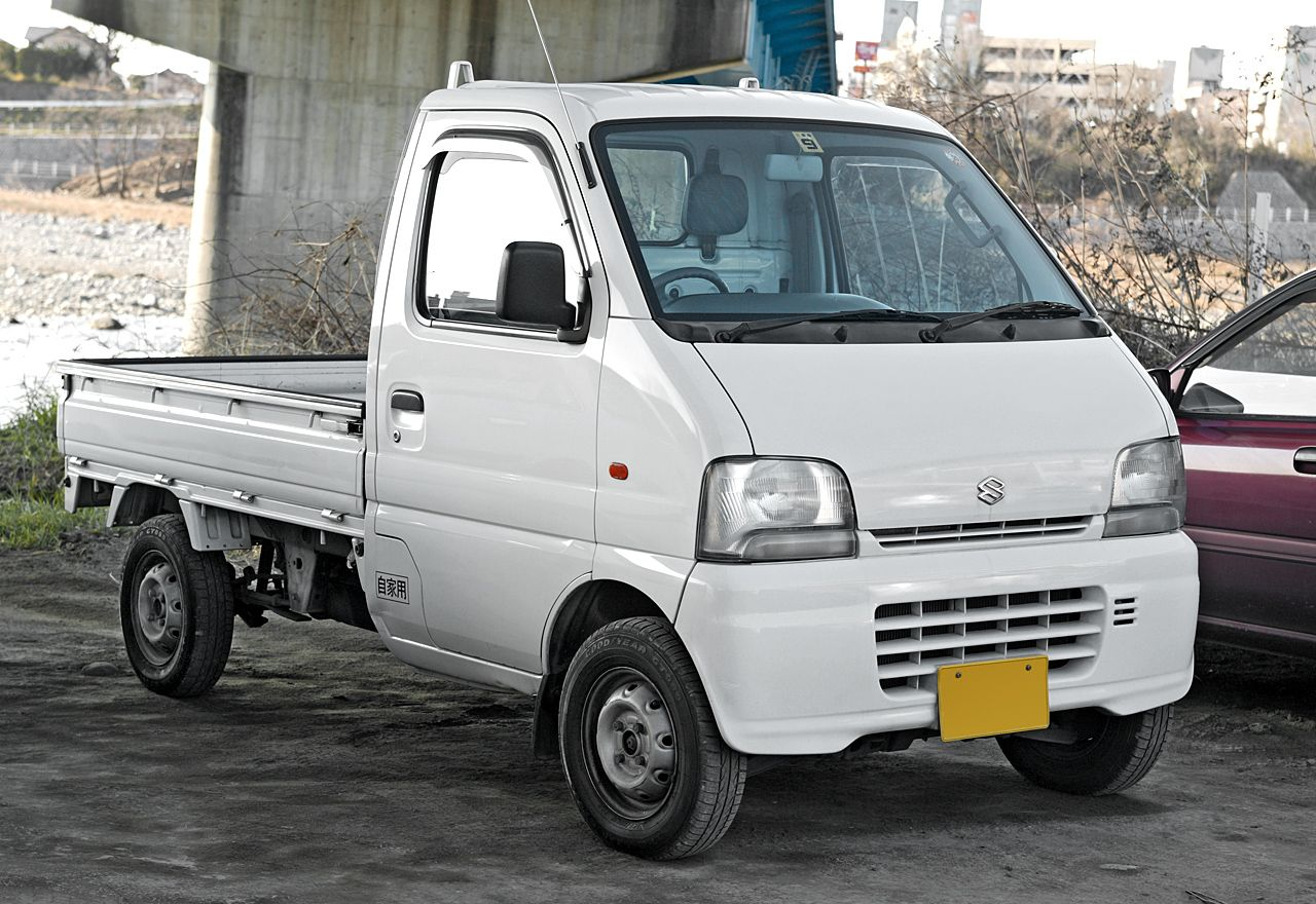 rhd 1995 suzuki carry 4x4 pick-up - new paint - air conditioning