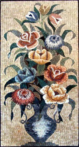 "20x40"" Quality Flower Marble Mosaic Art Tile Mural by mozaico. $307.00. Mosaics have endless uses and infinite possibilities! They can be used indoors or outdoors, be part of your kitchen, decorate your bathroom and the bottom of your pools, cover walls and ceilings, or serve as frames for mirrors and paintings."