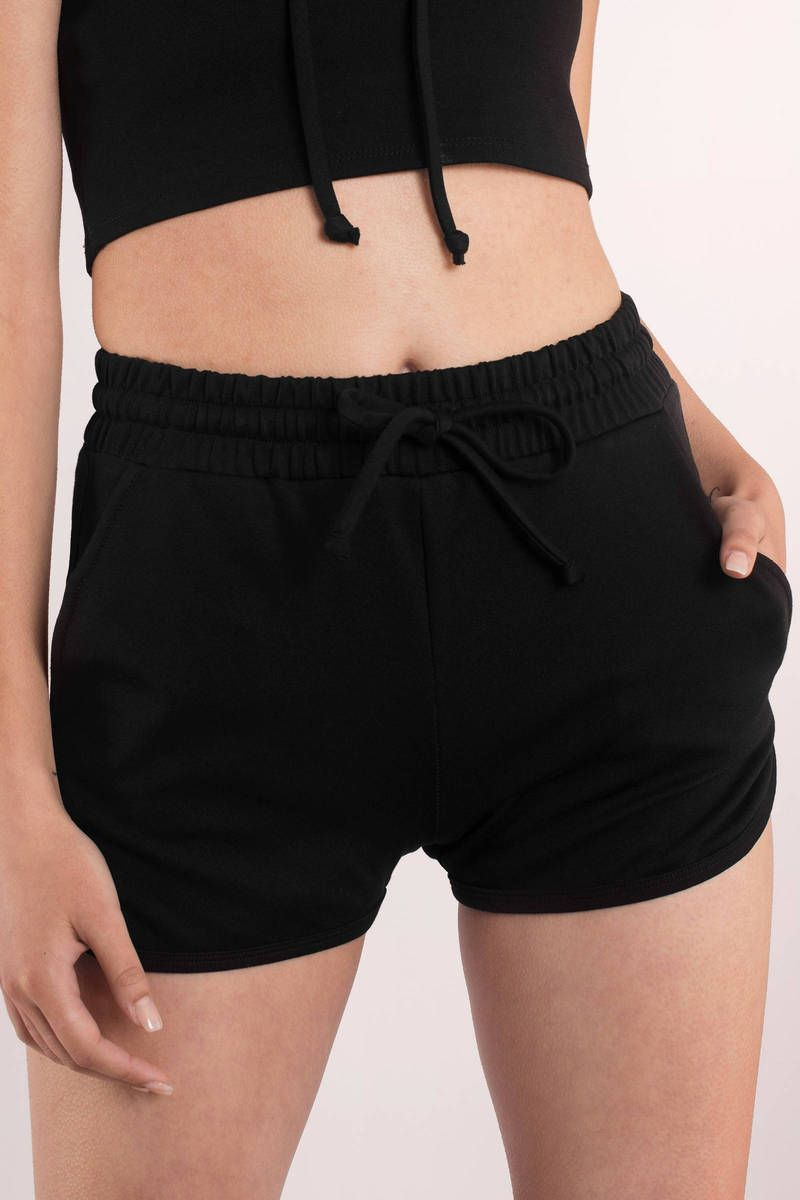 Brianna Drawstring Shorts In Black In 2021 Drawstring Shorts Black Short Dress Shorts [ 1200 x 800 Pixel ]