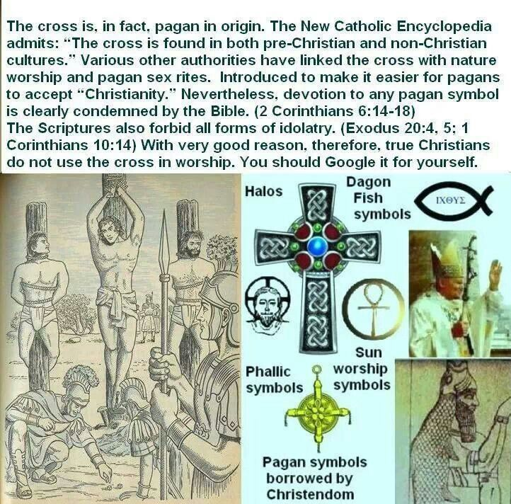The Cross Is In Fact Pagan Origine Bible Forbids Idolatry