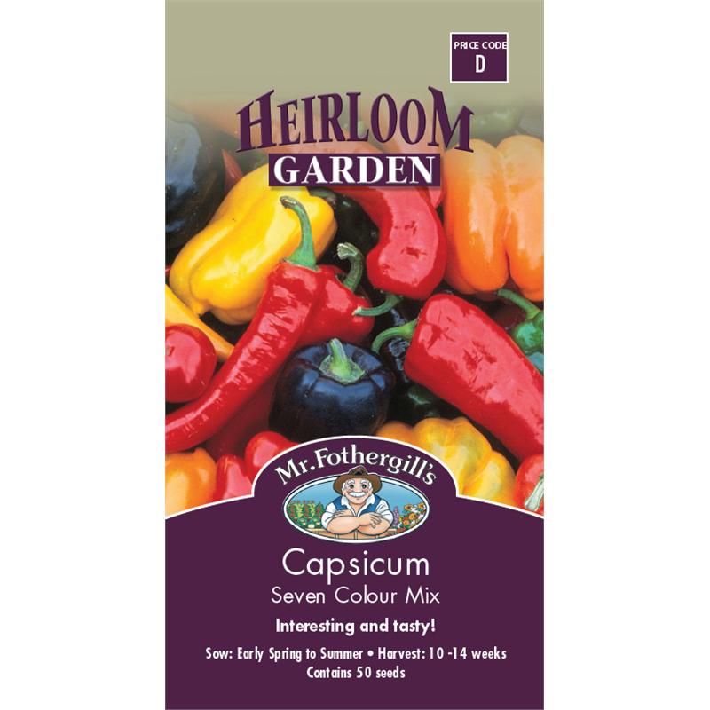 Mr Fothergill's 7 Colour Capsicum Heirloom Seeds