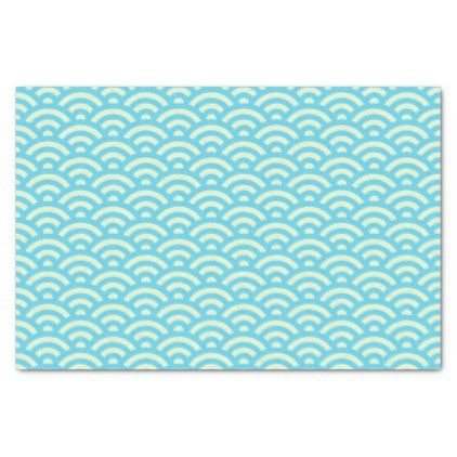 Blue green wave gift craft tissue paper negle Images