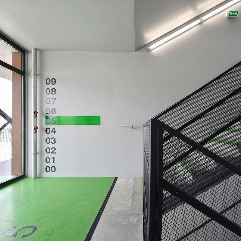 Ofis arhitekti finish basket apartments in paris signage for Ofis arhitekti