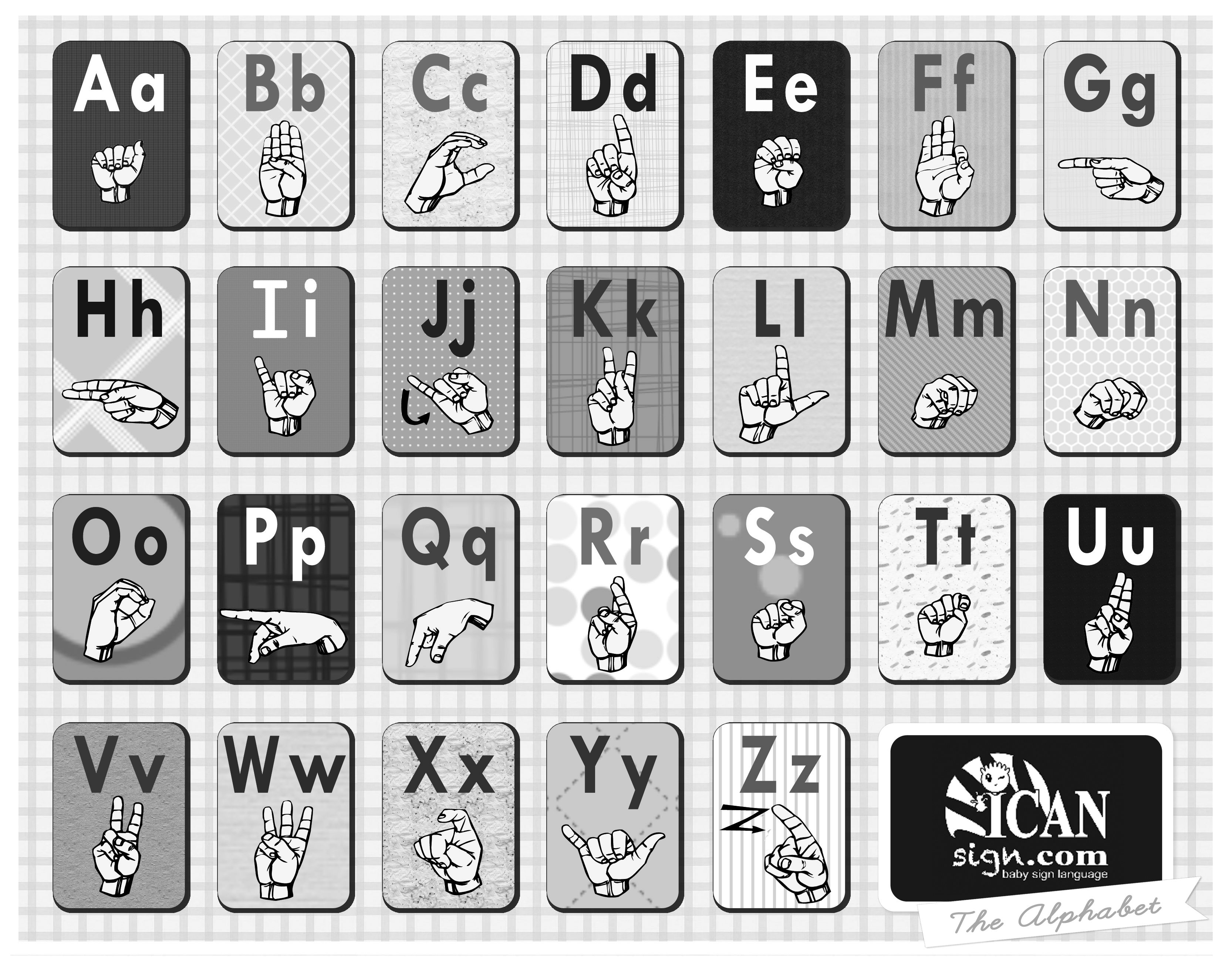 Pin By Icansign On Sign Language Charts