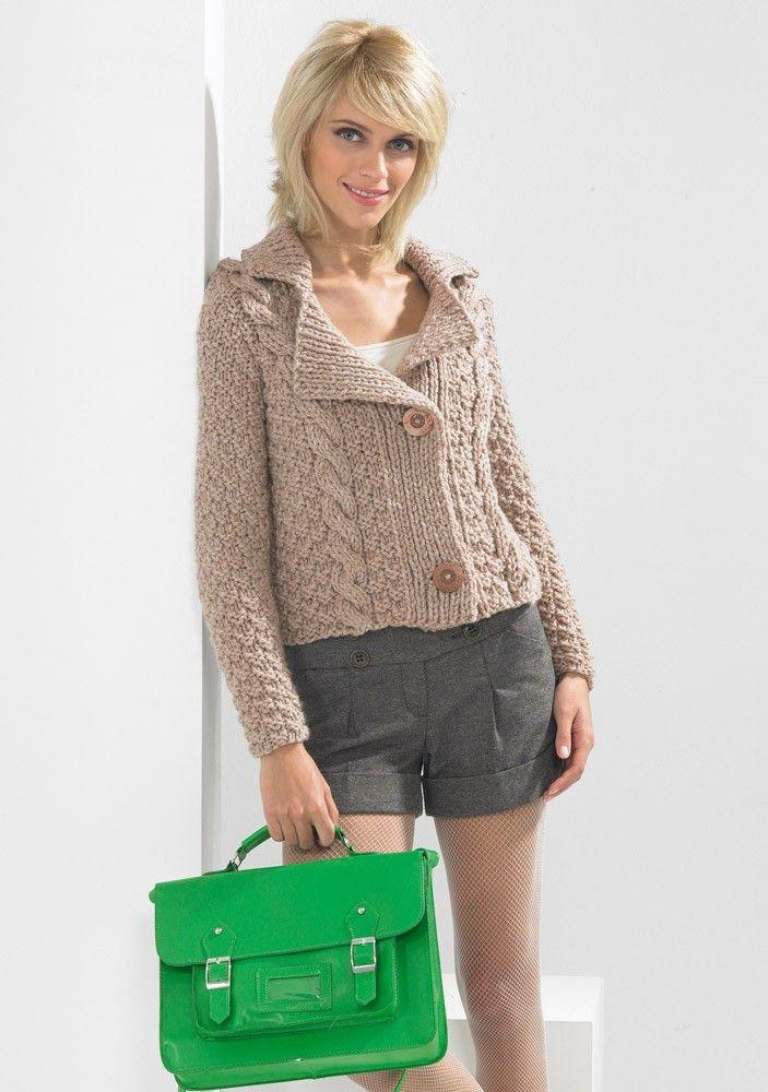 Jacket in Stylecraft Life Super Chunky - 8708 - Patterns   knit ...