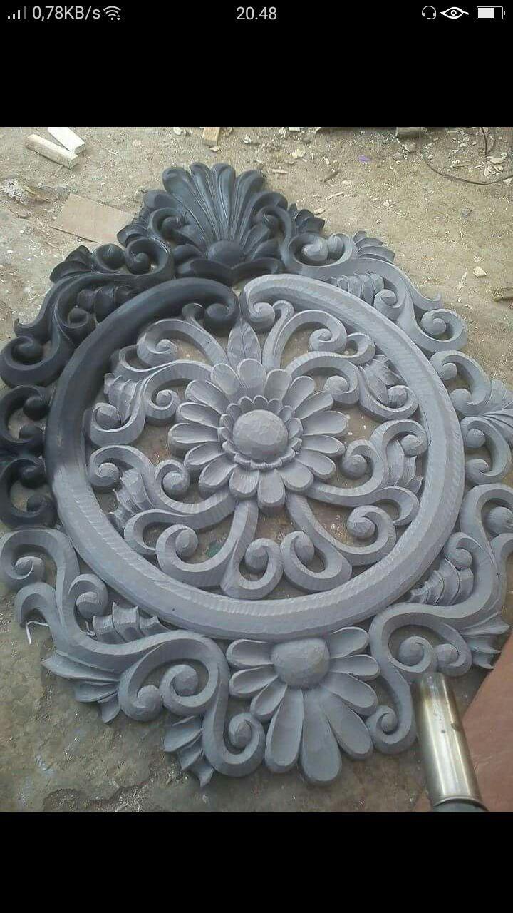 Pin by Dapoer kreatif on Ukir spon | Clay wall art, Cement ...