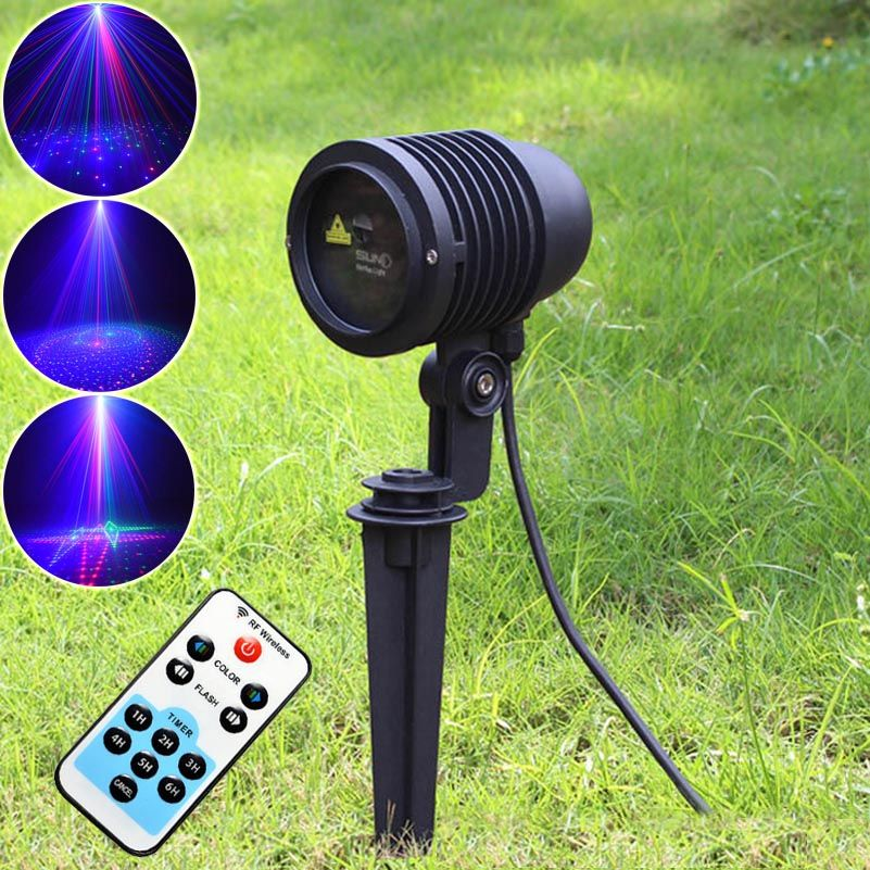 20 Patterns RGB Projector Shower Outdoor Holiday Waterproof Laser Lights Remote Christmas Party Tree Landscape Show Lighting