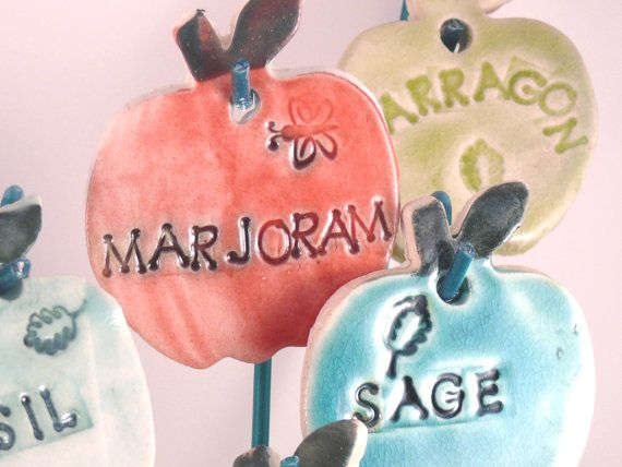 Herb Garden Markers   - Blue Sky Pottery Co